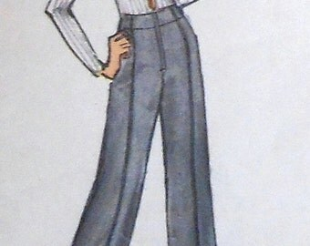 Vintage Pants Sewing Pattern Vogue 8462 waist 25