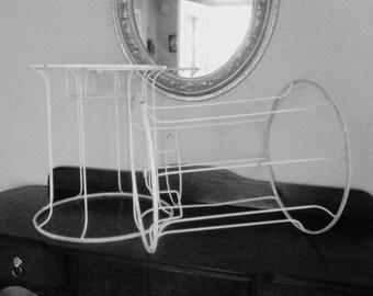 Pair Vintage Shabby Chic Lamp Shade Frames
