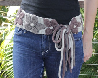Sasha Knitted Belt - PDF Pattern