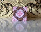 Polymer Clay Kaleidoscope Cane Pink, Gold, White, Black, Red No. 0962