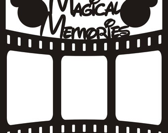 Magical Memories with Film Strip - 12x12 Overlay