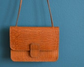 Vintage 1970s 1980s Small Brown Leather Purse
