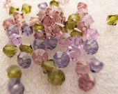 4mm Preciosa Czech Crystals - Lilacs in Spring Mix