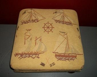 Vintage Footstool Nautical Theme