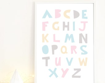 Mod ABC Poster in pink