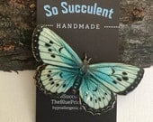 Baby Blue and Butterly Brooch