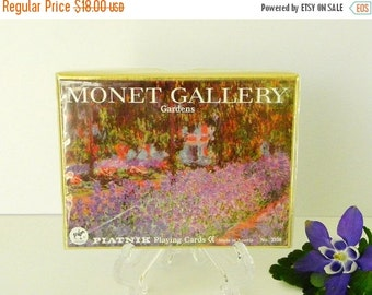 FALL SALE 25% OFF Monet Gardens Playing Cards Sealed in Box. 2 Decks. By Piatnik of Austria. Nos.