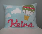 Plush Personalized Hot Air Balloon Pillow
