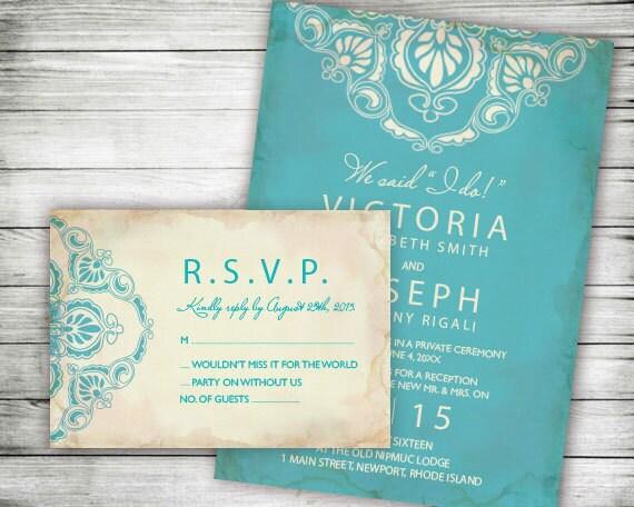 Elopement Wedding Invitations: Elopement Reception Invitation Post Wedding Reception
