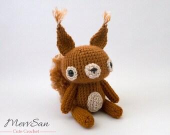 Crochet PATTERN PDF - Amigurumi Woodland Critter Squirrel - crochet animal pattern, amigurumi squirrel pattern, cute crochet squirrel plush