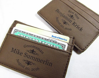 Personalized Leather Money Clip - Custom Money Clip - Engraved Money Clip - Personalized Money Clip - Groomsmen Gifts - Money Clip for Men