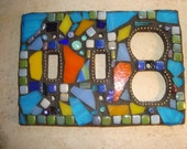 MOSAIC LIGHT SWITCH Plate Cover - Fiesta Combination Switch and Outlet Cover