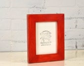 """5x7"""" Picture Frame in 1.5 Standard Style with Vintage Red Dye Finish - IN STOCK - Same Day Shipping - 5 x 7 Photo Frame"""