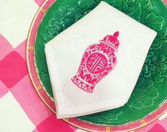 Pink Ginger Jar Napkins