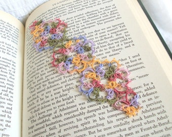 Butterfly Bookmark , Summer Garden in Tatting - Janessa