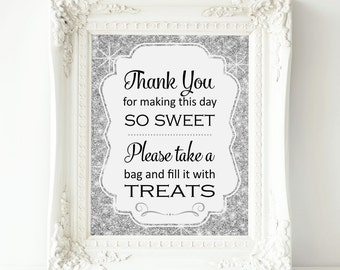 Silver Sparkle Candy Buffet Sign - PRINTABLE Instant download, Bling Candy Table, Candy Bar, Bridal Shower, Baby Shower, Wedding, Top Seller