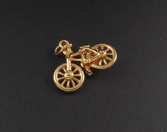 Bicycle Charm, Bike Charm, Cycling Charm, Moveable Charm, Cyclist Charm