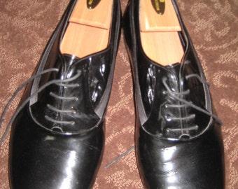 Size 13 m Men's Dress/Tuxedo Wedding Shoes  Black Patent leather Dress Shoe/Black Leather Tie Shoe /Tuxedo Shoe