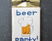 Mid Century Beer Party Invitations Pack of 10 Cards and Envelopes
