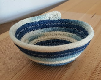 Hand Dyed Indigo Rope Bowl, Small