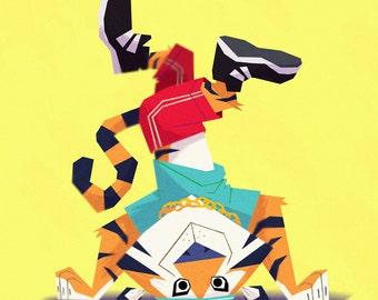 Animal B-Boys | Set of 3 8x10 Fine Art Prints | Nursery, Child's Room Art | Flimflammery