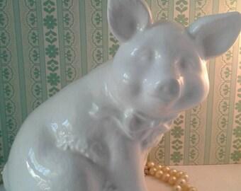 Vintage Ceramic Pig Statue