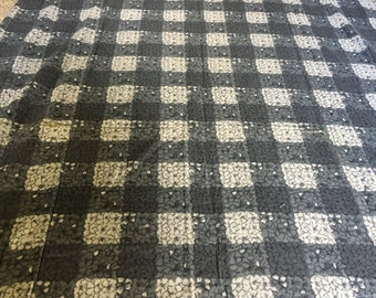 CORTLEY COTTON FABRIC  5 yds x 36  gray white grey vintage