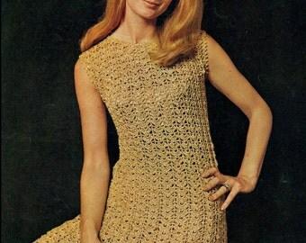 Crochet Pattern - Womens Evening Dress/Maxi Dress Elegant Crochet Gown Instant download