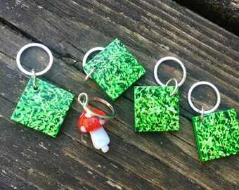 Gnome Home Lego Stitch Markers - Set of Five