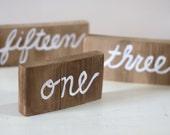 Rustic Barnboard Wedding Table Numbers