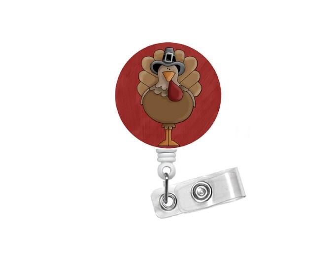 Todd the Turkey Badge Holder - ID Badge Reel - Thanksgiving Badge Reel - Nursing Badge - Teacher Badge Reel - Teacher Badge - Gift