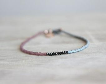Miyuki Bracelet with Black Diamond Beads