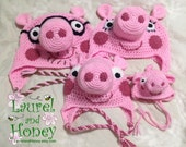 Pig Hat - PRIORITY MAIL SHIPPING by Oct 22