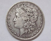 1890 US Silver Dollar New Orleans Mint