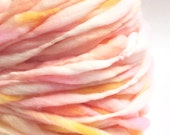 Chunky handspun yarn,65 yards and 3.65 ounces/104 grams, spun super bulky and thick and thin in merino wool
