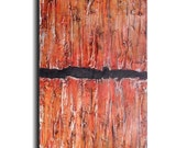 Original Large Abstract painting - 18 X 36- FREE US SHIPPING by Artist JMJartstudio- Alignment -Wall art- Blue painting-XXl painting