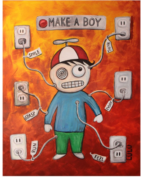 Make A Boy Art Print