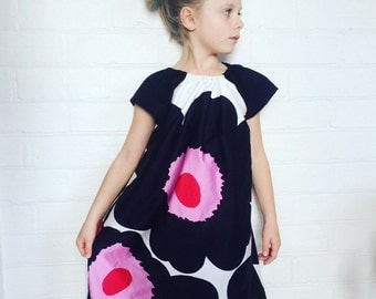 Marimekko Unikko Fabric Baby Girls Dress