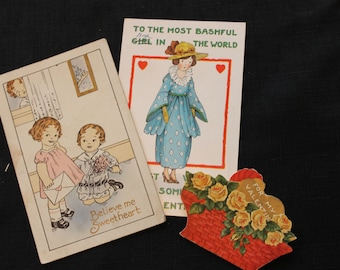 Two Victorian Valentine Postcards