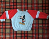 80s Soft and Cozy Mickey Mouse Disney Sweater size 6 months