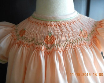 Handsmocked bishop dress - 12 months only.  Immediately available