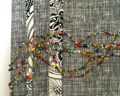 Beaded Fiber Art Wall Hanging - Proof of Life III