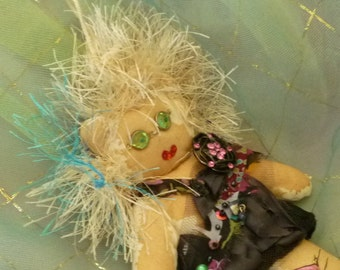 Vampsace Goth Doll, Fabric Doll, Voo Doo Doll, Voodoo Doll by gothB4play