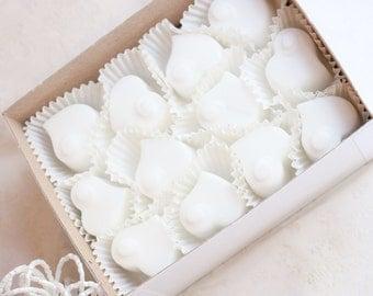 Wedding Favors - Heart Wedding Favor Soap - Bridal Shower Favors - Party Favors - Heart Shaped Soap - Handmade Soap - Engagement Party Favor