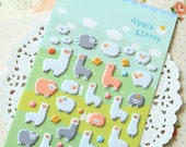 Yoofun Alpaca & Sheep puffy cartoon stickers