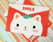 Happy Cat Smile Dada cartoon Envelope File Bags