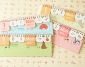 Just for You Cartoon Animals Mini desk Perpetual Any Year calendar