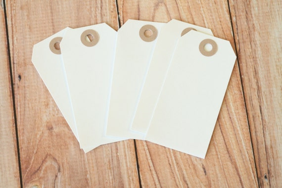 50pcs Large Old Fashioned White Luggage Tags
