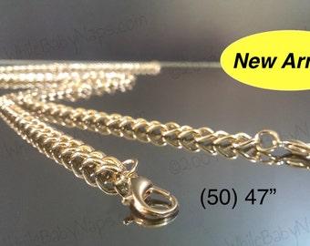 40 OFF (50) 47 inch GoldenLock(TM) crossbody shoulder length purse chains