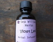 Violet Leaf Infused Herbal Oil (Viola Odorata) Organic // Wildcrafted // Natural Body Care // Skin Care // Breast Care - 1 oz